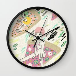 Pizza Riders Wall Clock