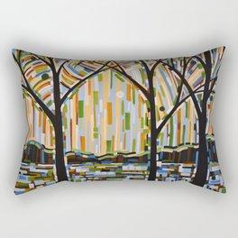Abstract Art Landscape Original Painting ... Enchanted Nights Rectangular Pillow
