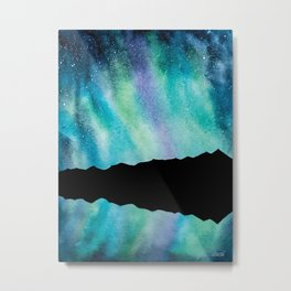 Breckenridge Tenmile Range Aurora Borealis Metal Print