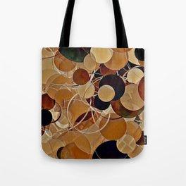 Autumn Bubbles Pattern Tote Bag