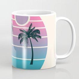 Dude! - retro 70s throwback minimal sunset beach tropical palm trees 1970's minimalism decor socal Coffee Mug