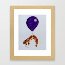 Dachhund with balloon Framed Art Print