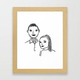 sadie pillow Framed Art Print