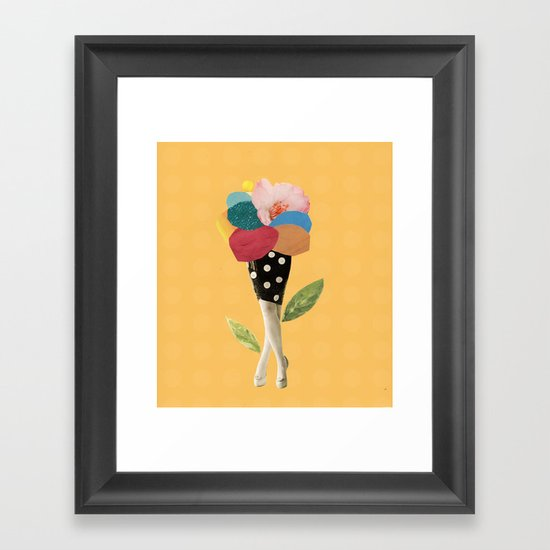 all flowers in time bend towards the sun Framed Art Print