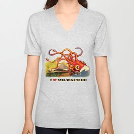 MILWAUKEE: What's Kraken, Milwaukee? Unisex V-Neck