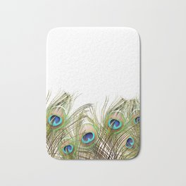 Peacock feather Bath Mat