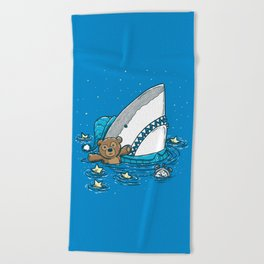 The Sleepy Shark Beach Towel