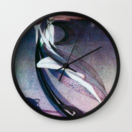 Kay Nielsen - A West Wind Carrying A Fairy Son On A Wicker Cradle Wall Clock