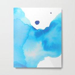 Blue Watercolour Metal Print