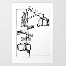 W. Broadway and Leonard, NYC Art Print