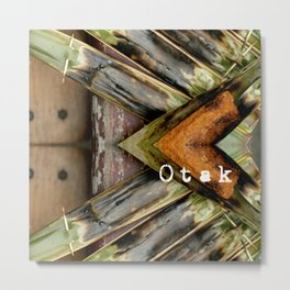 OTAK - It is a grilled fish cake made of ground fish meat mixed with spices. Metal Print