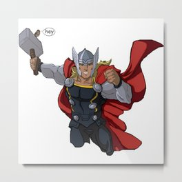 Thor and the Bird Metal Print