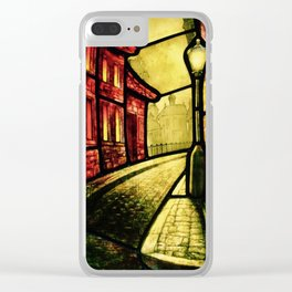 Lamplight Street Clear iPhone Case