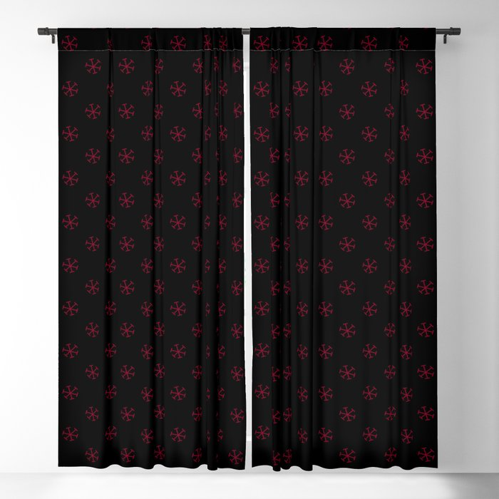 Burgundy And Black Curtains.Burgundy Red On Black Snowflakes Blackout Curtain By Colorfulpatterns2