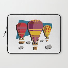 Balloon flight flying in the sky with clouds shirt Laptop Sleeve