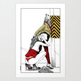 asc 702 - Les nouveaux terrains de chasse (I guess my spirit animal is a wolf) Art Print