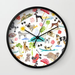 Doggie Days Wall Clock
