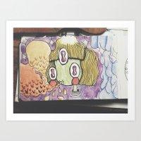 alienblowbubble Art Print