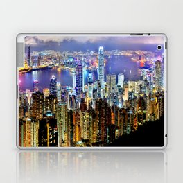Hong Kong City Skyline Laptop & iPad Skin