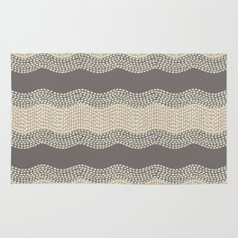 Wavy River III in brown, tan and cream Rug