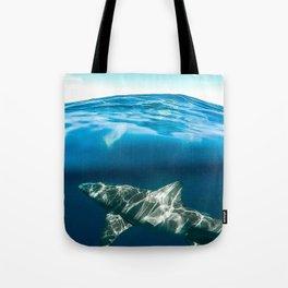 Shark Paradise Below Tote Bag