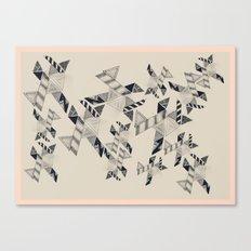 B&W Aztec pattern illustration Canvas Print
