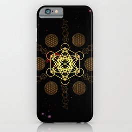 Metatron's Cube Platonic Solids iPhone Case
