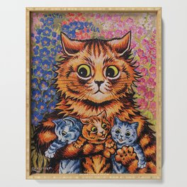 Cat and Her Kittens-Louis Wain Cats Serving Tray