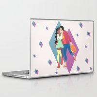steven universe Laptop & iPad Skins featuring Steven Universe - Connie and Steven by HappyQiwi