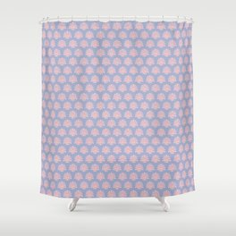 Silver and salmon elegant fabric pattern Shower Curtain