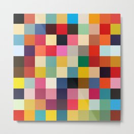 Kuula - Abstract Pixel Art Metal Print