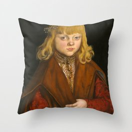 "Lucas Cranach the Elder """"A Prince of Saxony"" Throw Pillow"