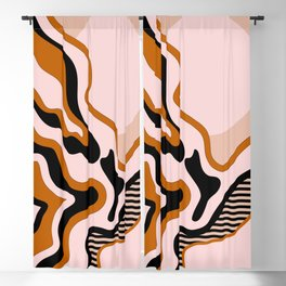 Beautiful Journey - Caramel and Cream Blackout Curtain