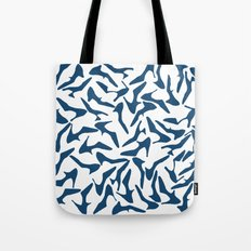 Shoes Navy on White Tote Bag