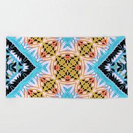 ethnic cross Beach Towel