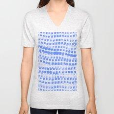 Abstract azure navy pattern Unisex V-Neck