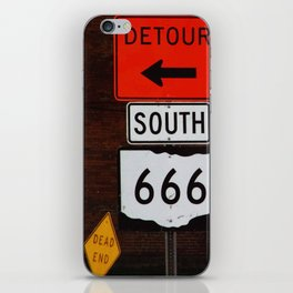 Highway to Hell  *or* Roadsigns to Perdition iPhone Skin
