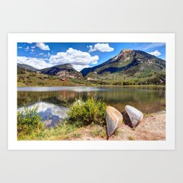 Beaver Lake Colorado USA Art Print