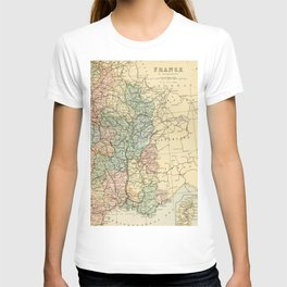 Old Map of the East of France T-shirt