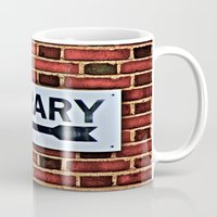 library Mugs featuring Library by Biff Rendar