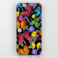 butterfly iPhone & iPod Skins featuring butterfly by mark ashkenazi