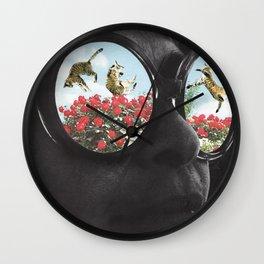 Cat-Eyed Wall Clock