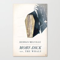 dick Canvas Prints featuring Moby-Dick by Chad Gowey