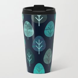 Watercolor Forest Pattern #7 Metal Travel Mug