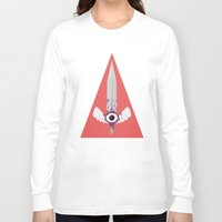 sword Long Sleeve T-shirts featuring Dark Sword by Thomas Official