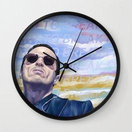Break Free (pastel text) Wall Clock