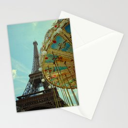 Eiffel Tower & Carrousel  Stationery Cards