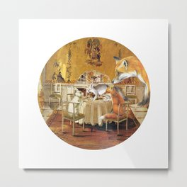 Tiny as a soul, there comes the rabbit Metal Print