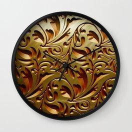 Scroll Texture Wall Clock