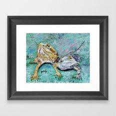 Bearded Dragons Framed Art Print